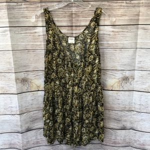 Free People Trapeze Floral Tank